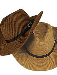 Недорогие -Муж. Классический Шляпа от солнца Полиэстер,Однотонный Светло-коричневый Белый Желтый
