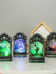 cheap -Holiday Decorations Halloween Decorations Halloween / Halloween Entertaining Special Designed / LED Light / Party Forest Green / Purple / Yellow 1pc
