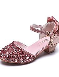 abordables -Fille Chaussures de Demoiselle d'Honneur Fille Matière synthétique Chaussures à Talons Grands enfants (7 ans et +) Argent / Rose Eté