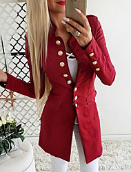 cheap -Women's Blazer Stand Polyester Black / Blue / Red