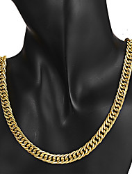 cheap -Men's Chain Necklace Necklace Classic Lucky Vintage Trendy Ethnic Korean Chrome Gold 44 cm Necklace Jewelry 1pc For Daily