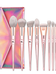 cheap -Professional Makeup Brushes 10pcs Soft New Design Adorable Aluminium Alloy 7005 for Makeup Brush