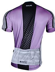 cheap -Nuckily Men's Short Sleeve Cycling Jersey Purple Yellow Blushing Pink Bike Jersey Top Mountain Bike MTB Road Bike Cycling Breathable Quick Dry Sports Clothing Apparel / Advanced / Advanced