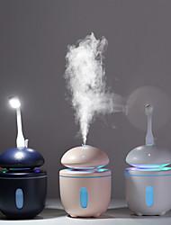 abordables -1 pc USB alimenté humidificateur élimine le nettoyage statique air soin peau nano technologie de pulvérisation muet conception 7 lumières voiture bureau nuit lumière mini champignon humidificateur