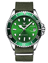 cheap -Men's Mechanical Watch Automatic self-winding Formal Style Modern Style Nylon Black / Blue / Green 50 m Water Resistant / Waterproof Noctilucent Analog Luxury Fashion - Black Green Blue