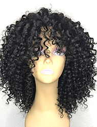 cheap -Synthetic Wig Afro Curly Layered Haircut Wig Medium Length Natural Black Synthetic Hair 26~30 inch Women's New Arrival Black