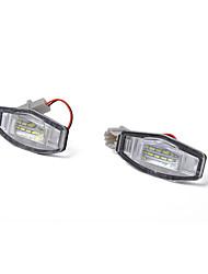 Недорогие -Непосредственно подходят белые светодиодные лампы освещения номерного знака для acura tl tsx honda civic