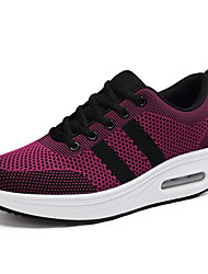 cheap -Women's Athletic Shoes Flat Heel Round Toe Tissage Volant Sporty / Casual Running Shoes / Swing Shoes Spring &  Fall Black / Purple / Fuchsia / Color Block