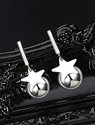 cheap -Women's Stud Earrings Classic Star Donuts Stylish Simple European Trendy Elegant S925 Sterling Silver Earrings Jewelry Silver For Gift Daily Holiday Work Festival 1 Pair