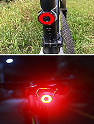 cheap -LED Bike Light Brake Light Rear Bike Tail Light Safety Light - Mountain Bike MTB Bicycle Cycling Waterproof Multiple Modes Smart Induction Super Brightest Li-ion 40 lm Built-in Li-Battery Powered Red