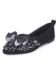 cheap -Women's Loafers & Slip-Ons Flat Heel Bowknot Suede Casual Summer Black / Green / Pink / Daily