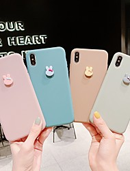 cheap -Case For Apple iPhone 12 / iPhone 11 / iPhone 12 Pro Max Ultra-thin / Frosted Back Cover Solid Colored / 3D Cartoon TPU