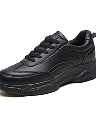 cheap -Men's Comfort Shoes PU Winter Sporty / Casual Athletic Shoes Running Shoes / Walking Shoes Warm Black