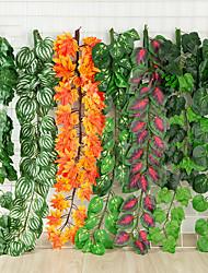 cheap -6Pc Simulation Fake Flower Rattan Ceiling Green Vine Engineering Decoration Rattan Top Cabinet Ceiling Dining Room Living Room Decoration Flower Green Plant