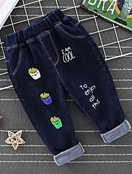 cheap -Kids Boys' Basic Punk & Gothic Print Print Jeans Blue