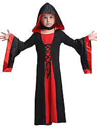 cheap -Vampire Dress Cosplay Costume Halloween Props Masquerade Costume Kid's Girls' Halloween Halloween Festival Halloween Children's Day Masquerade Festival / Holiday Other Material Polyster Red+Black