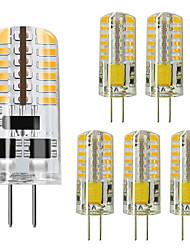 cheap -6pcs 3 W LED Bi-pin Lights 250 lm G4 48 LED Beads SMD 3014 Warm White Cold White 220 V