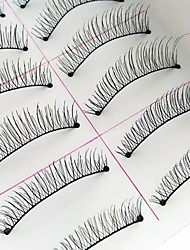 cheap -Eyelash Extensions 10 pcs Adorable Breathable Ultra Light (UL) water-resistant Comfortable Non Toxic Fiber Animal wool eyelash Daily Wear Full Strip Lashes Natural Long - Makeup Daily Makeup