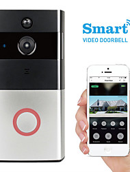 cheap -K-03L 1280 x 960 WIFI Photographed No Screen(output by APP) Telephone Smart Video Doorbell 166° Viewing Angle One to One Video Doorphone Home Security System
