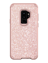 cheap -Phone Case For Samsung Galaxy Back Cover S9 S9 Plus Shockproof Glitter Shine PC