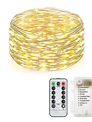 cheap -LOENDE Fairy Lights 10M 100 LED Battery Operated with Remote Control Timer Waterproof Copper Wire Twinkle String Lights for Bedroom Indoor Outdoor Wedding Dorm Decor