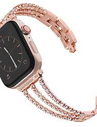 cheap -New Women Diamond Watch Band For Apple Watch 40mm/44mm/38mm/42mm iWatch Series 4 3 2 1 Stainless Steel Strap Sport Bracelet
