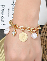 cheap -Women's Vintage Bracelet Earrings / Bracelet Pendant Bracelet Retro Lucky Simple Classic Vintage Ethnic Fashion Imitation Pearl Bracelet Jewelry Gold / Silver For Daily School Street Holiday Festival