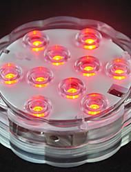 Недорогие -10 светодиодные погружные фонари с дистанционным управлением rgb меняется подводный водонепроницаемый фонари для пруда бассейн фонтан аквариум ваза джакузи ванна декор партия освещения 1 шт.