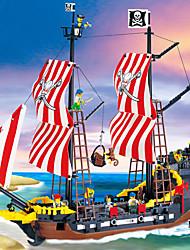 Недорогие -ENLIGHTEN Магнитный конструктор Магнитные плитки Конструкторы Пираты Корабль Универсальные Мальчики Девочки Игрушки Подарок