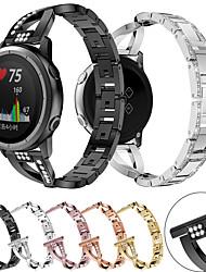 cheap -For Garmin Forerunner 645 / 245 / Vivomove HR / Vivoactive 3 Smart Watch Stainless Steel Watch Band Strap