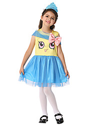 cheap -Cookie Anime Cosplay Costume Kid's Girls' Halloween Halloween Festival / Holiday Spandex Polyester / Polyamide Sky Blue Carnival Costumes
