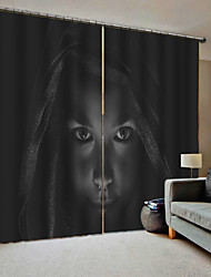 cheap -Blackout Dustproof 100% Polyester Curtains 2019 Halloween Theme New 3D Digtal Printing Curtain Products
