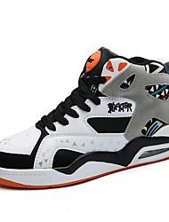 cheap -Men's Comfort Shoes PU Fall & Winter Basketball Shoes Black / White