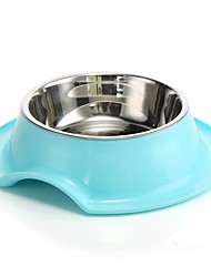 cheap -Dogs Cats Bowls & Water Bottles 6 L Plastic Casual / Daily Solid Colored Green Blue Pink Bowls & Feeding