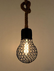 cheap -Hemp Rope Pendant Light Ambient Light Painted Finishes Metal Creative 110-120V / 220-240V