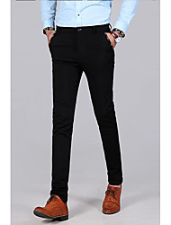 abordables -Homme Basique Costume Pantalon - Couleur Pleine Noir Bleu Marine US34 / UK34 / EU42 US36 / UK36 / EU44 US38 / UK38 / EU46