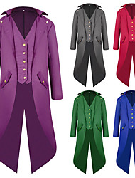 abordables -Docteur de la peste Rétro Vintage Gothique Epoque Médiévale Steampunk 18ème siècle Smoking Tailcoat Redingote Homme Coton Costume Noir / Blanche / Violet Vintage Cosplay Manches Longues / Manteau