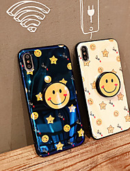 cheap -Case For Apple iPhone XS / iPhone XR / iPhone XS Max Dustproof / with Stand / IMD Back Cover Heart / Geometric Pattern / Cartoon PC