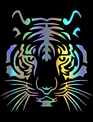 cheap -Colorful Tiger Head Car-styling Motorcycle Vinyl Decal Car Sticker