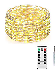 cheap -LOENDE Fairy Lights Plug in 8 Modes 10M 100 LED USB String Lights with Adapter Remote Timer Waterproof Decorative Lights for Bedroom Patio Christmas Wedding Party Dorm Indoor Outdoor