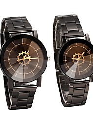 cheap -Couple's Dress Watch Quartz Casual Watch Analog Casual Fashion - Black