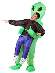 cheap -More Costumes Alien Cosplay Costume Inflatable Costume Adults' Men's Halloween Halloween Festival / Holiday 100% Polyester Green Men's Women's Carnival Costumes / Air Blower / Leotard / Onesie