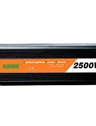 Недорогие -suredom автомобильный инвертор постоянного тока 12 В переменного тока 220 В / постоянного тока 24 В переменного тока 220 В / постоянного тока 12 В переменного тока 110 В 12/24 В 2500 Вт для
