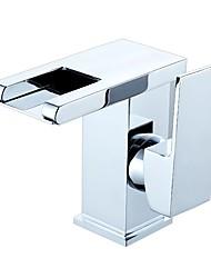 abordables -Robinet lavabo - LED Multiplex Sur Pied Mitigeur un trouBath Taps
