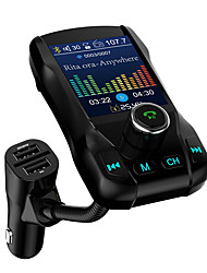 cheap -1.77 Color Screen FM Transmitter Wireless Bluetooth Handsfree Car Kit 360 Rotatable Car MP3