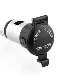 cheap -12V 24V 120W Cigarette Lighter Waterproof Power Motorcycle Boat Car Cigarette Lighter Socket Plug with 60cm Wire