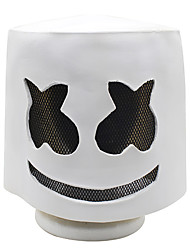 cheap -Halloween Soft Latex DJ Marshmello Mask Cosplay Costume Accessory