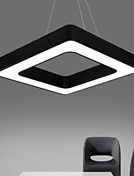 cheap -1-Light LED Pendant Light Adjustable Pendant Lights Ambient Light Painted Finishes Metal Light Fixtures for Dining Room Living Room Office