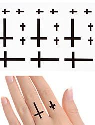 Недорогие -10 шт. Водонепроницаемый временный стикер татуировки маленький крест на палец ухо флэш татуировки поддельные татуировки передачи воды для девушки мужчины
