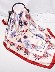 Недорогие -Жен. Для вечеринки / Активный Квадратный платок Цветочный принт